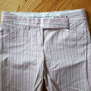 Pink Striped Editor Pants by Express